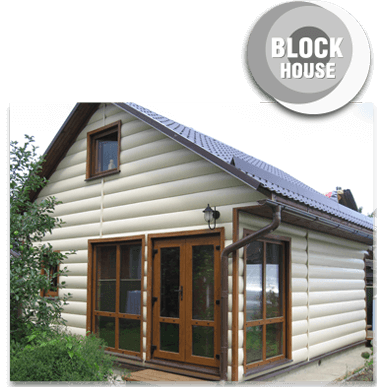 Block house siding